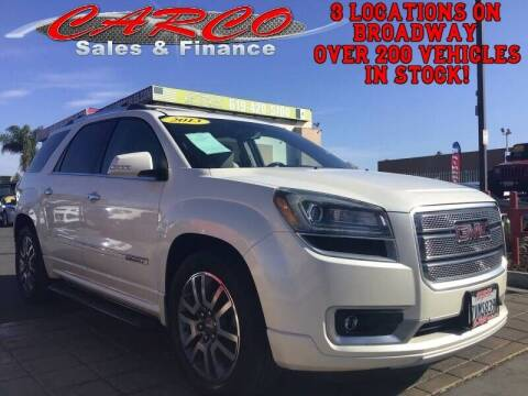 2013 GMC Acadia for sale at CARCO SALES & FINANCE in Chula Vista CA