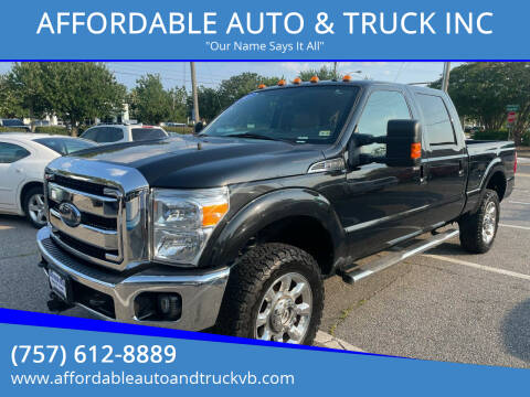 2015 Ford F-250 Super Duty for sale at AFFORDABLE AUTO & TRUCK INC in Virginia Beach VA