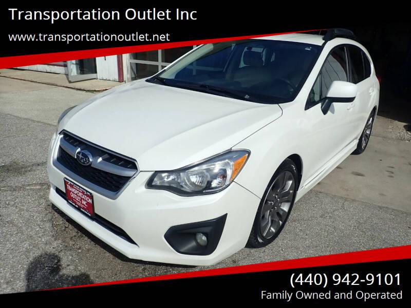 2014 Subaru Impreza for sale at Transportation Outlet Inc in Eastlake OH