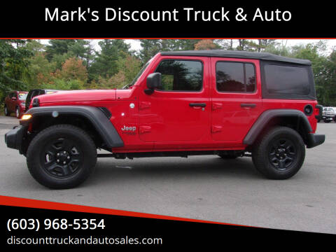 2018 Jeep Wrangler Unlimited for sale at Mark's Discount Truck & Auto in Londonderry NH