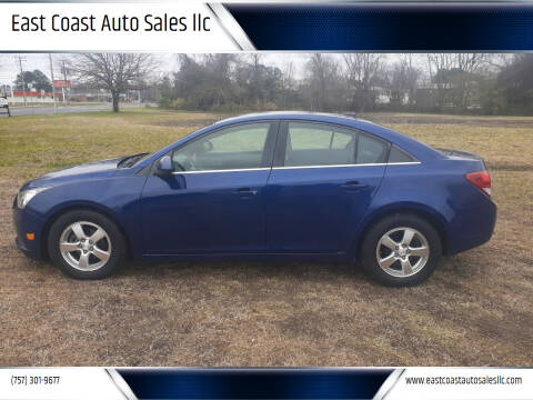 2012 Chevrolet Cruze for sale at East Coast Auto Sales llc in Virginia Beach VA