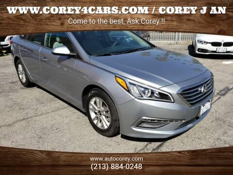 2015 Hyundai Sonata for sale at WWW.COREY4CARS.COM / COREY J AN in Los Angeles CA