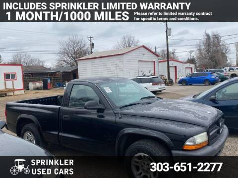 2003 Dodge Dakota for sale at Sprinkler Used Cars in Longmont CO