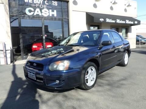 2005 Subaru Impreza for sale at Wilson-Maturo Motors in New Haven Ct CT
