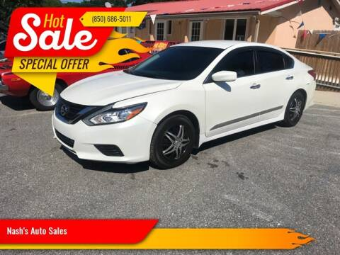 2016 Nissan Altima for sale at Nash's Auto Sales Used Car Dealer in Milton FL