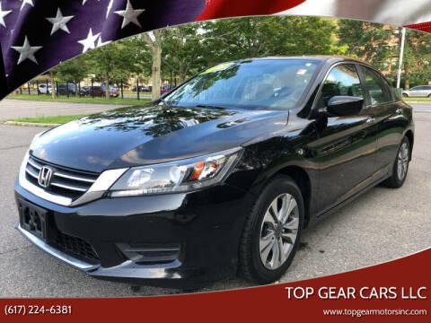 2014 Honda Accord for sale at Top Gear Cars LLC in Lynn MA