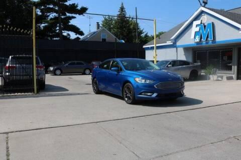 2018 Ford Fusion for sale at F & M AUTO SALES in Detroit MI