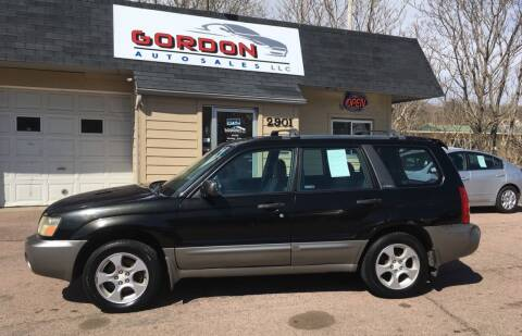 2003 Subaru Forester for sale at Gordon Auto Sales LLC in Sioux City IA