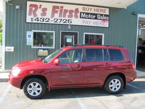 2001 Toyota Highlander for sale at R's First Motor Sales Inc in Cambridge OH