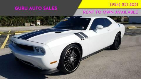 2012 Dodge Challenger for sale at Guru Auto Sales in Miramar FL