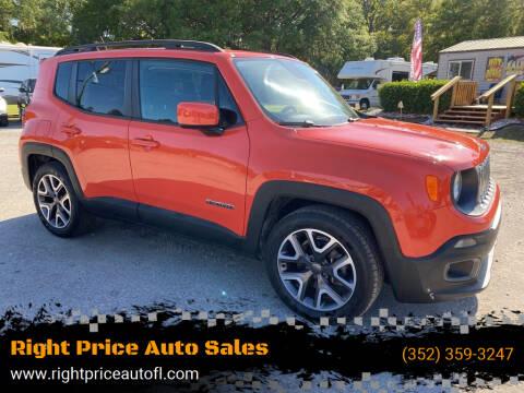 2015 Jeep Renegade for sale at Right Price Auto Sales in Waldo FL