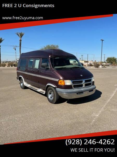 2001 Dodge Ram Van for sale at FREE 2 U Consignments in Yuma AZ