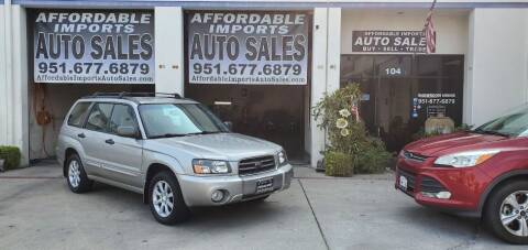 2005 Subaru Forester for sale at Affordable Imports Auto Sales in Murrieta CA