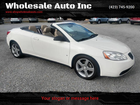 2007 Pontiac G6 for sale at Wholesale Auto Inc in Athens TN