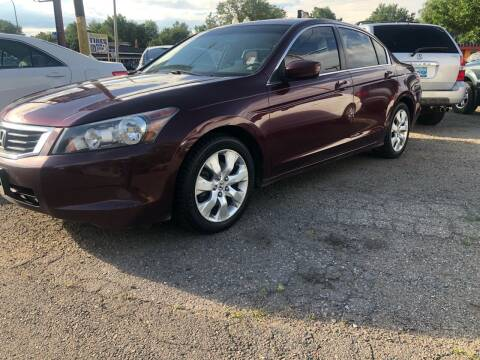 2008 Honda Accord for sale at Martinez Cars, Inc. in Lakewood CO