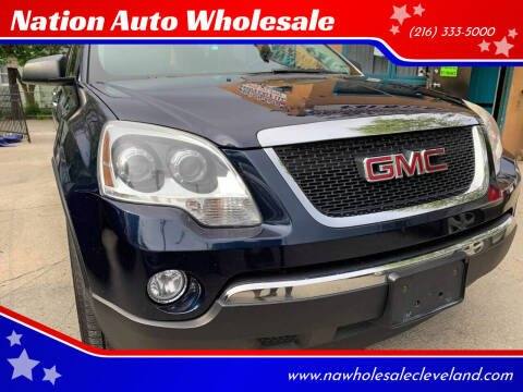 2011 GMC Acadia for sale at Nation Auto Wholesale in Cleveland OH