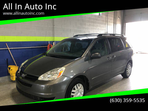 2004 Toyota Sienna for sale at All In Auto Inc in Addison IL
