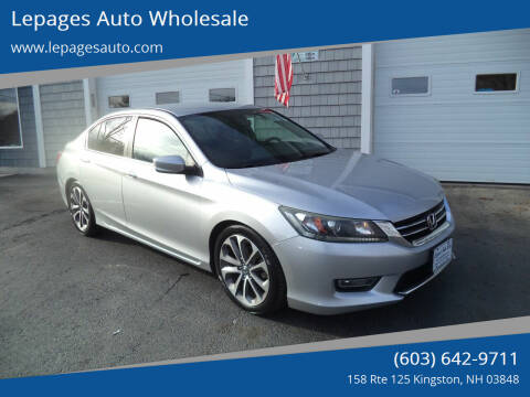 2013 Honda Accord for sale at Lepages Auto Wholesale in Kingston NH
