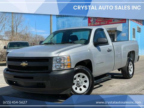 2010 Chevrolet Silverado 1500 for sale at Crystal Auto Sales Inc in Nashville TN