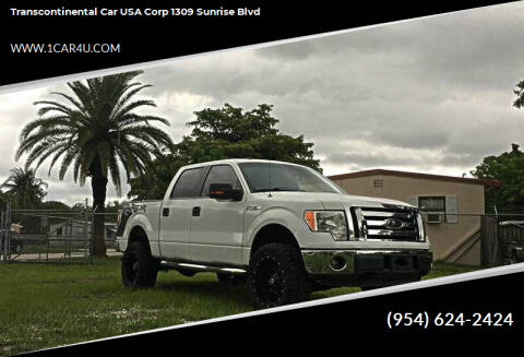 2010 Ford F-150 for sale at Transcontinental Car in Fort Lauderdale FL