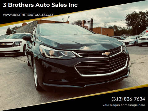 2018 Chevrolet Cruze for sale at 3 Brothers Auto Sales Inc in Detroit MI