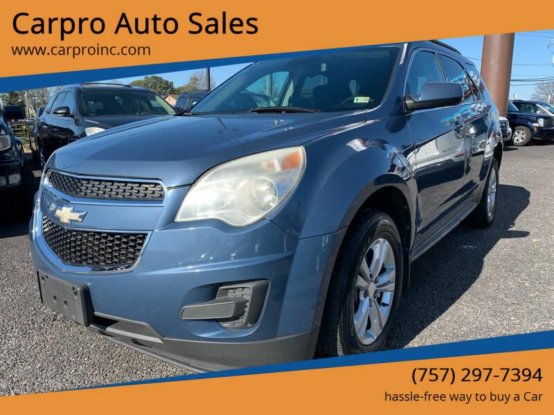 2012 Chevrolet Equinox for sale at Carpro Auto Sales in Chesapeake VA