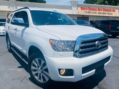 2014 Toyota Sequoia for sale at North Georgia Auto Brokers in Snellville GA