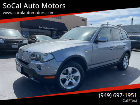 2007 BMW X3 for sale at SoCal Auto Motors in Costa Mesa CA