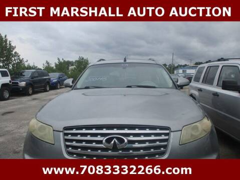 2004 Infiniti FX35 for sale at First Marshall Auto Auction in Harvey IL