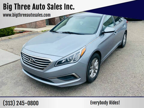 2017 Hyundai Sonata for sale at Big Three Auto Sales Inc. in Detroit MI