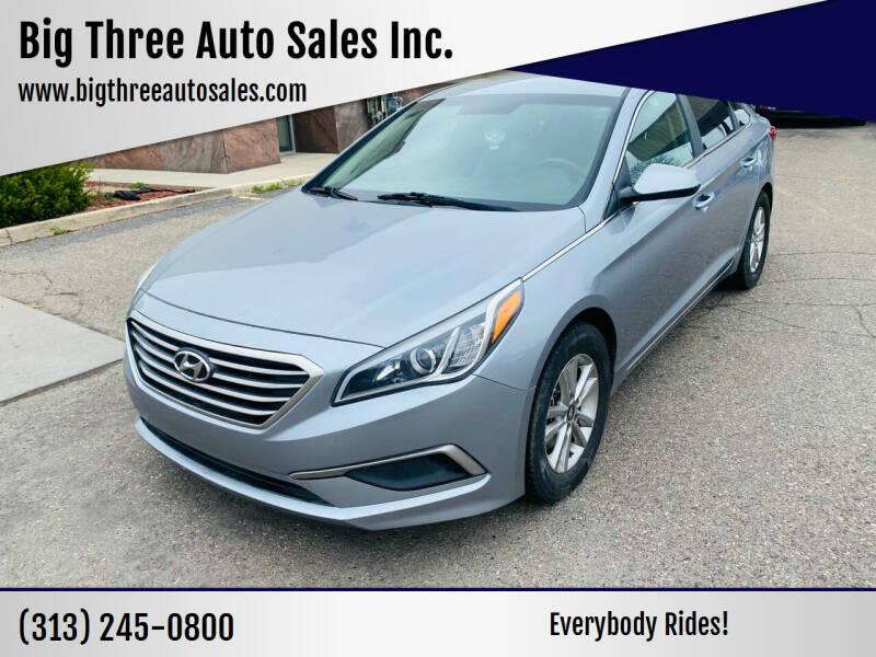 2017 Hyundai Sonata for sale at Big Three Auto Sales Inc. in Detroit MI