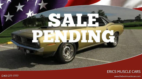 1970 Plymouth Barracuda for sale at Erics Muscle Cars in Clarksburg MD