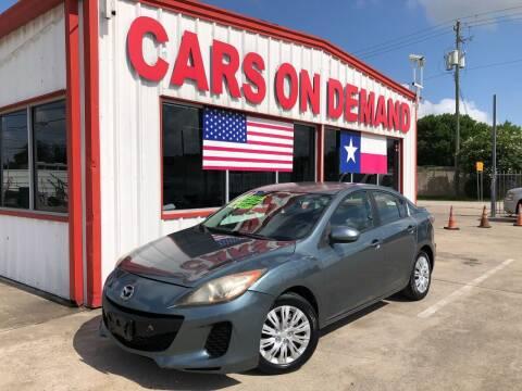 2013 Mazda MAZDA3 for sale at Cars On Demand 2 in Pasadena TX