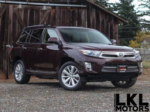 2012 Toyota Highlander Hybrid for sale at LKL Motors in Puyallup WA