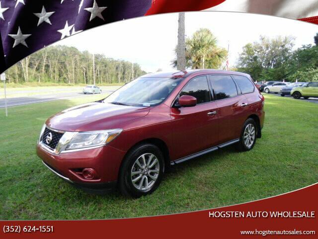 2015 Nissan Pathfinder for sale at HOGSTEN AUTO WHOLESALE in Ocala FL