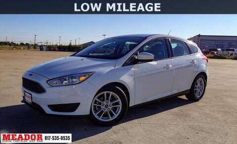 2018 Ford Focus for sale at Meador Dodge Chrysler Jeep RAM in Fort Worth TX
