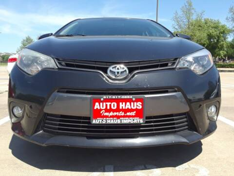 2015 Toyota Corolla for sale at Auto Haus Imports in Grand Prairie TX