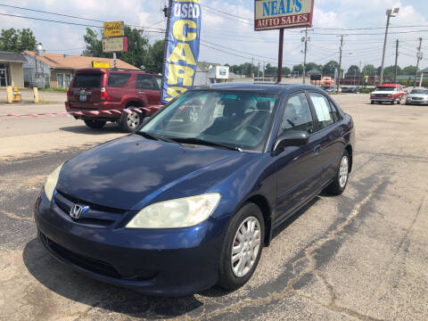 2005 Honda Civic for sale at Neals Auto Sales in Louisville KY