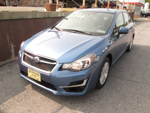 2016 Subaru Impreza for sale at WORKMAN AUTO INC in Pleasant Gap PA