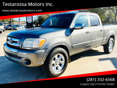 2005 Toyota Tundra for sale at Testarossa Motors Inc. in League City TX