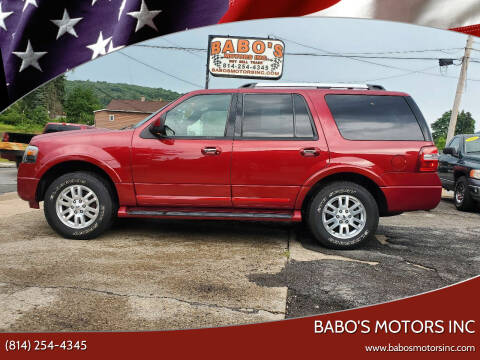 2014 Ford Expedition for sale at BABO'S MOTORS INC in Johnstown PA