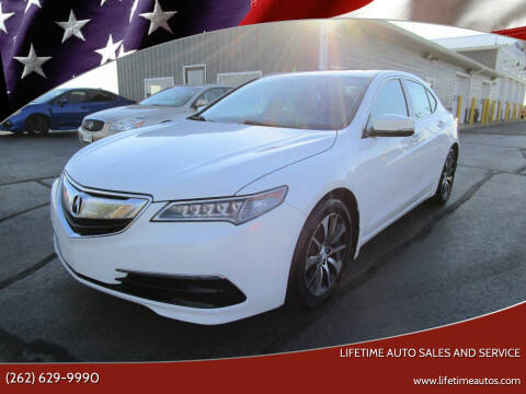 2015 Acura TLX for sale at Lifetime Auto Sales and Service in West Bend WI