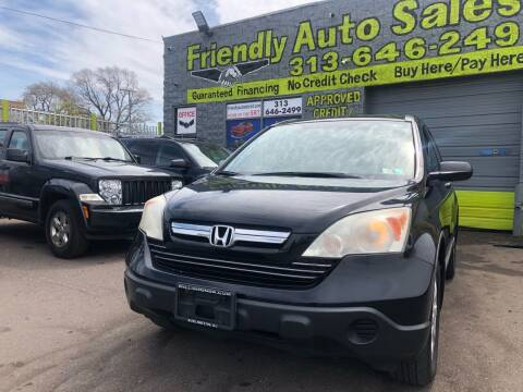 2008 Honda CR-V for sale at Friendly Auto Sales in Detroit MI