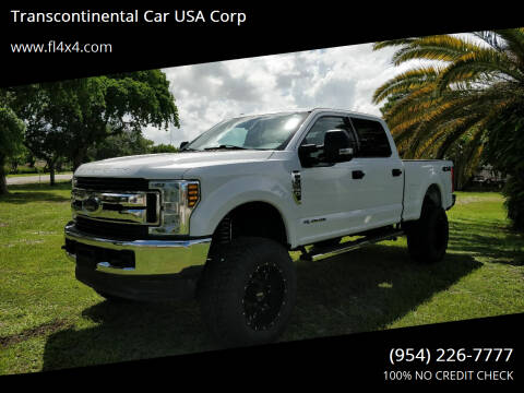 2018 Ford F-250 Super Duty for sale at Transcontinental Car USA Corp in Fort Lauderdale FL