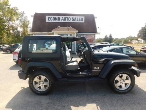 2009 Jeep Wrangler for sale at Econo Auto Sales Inc in Raleigh NC