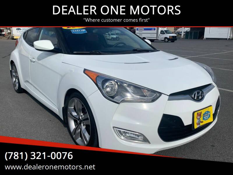2012 Hyundai Veloster for sale at DEALER ONE MOTORS in Malden MA
