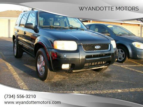 2003 Ford Escape for sale at Wyandotte Motors in Wyandotte MI