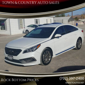2015 Hyundai Sonata for sale at TOWN & COUNTRY AUTO SALES in Overton NV