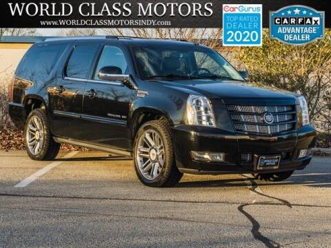 2014 Cadillac Escalade ESV for sale at World Class Motors LLC in Noblesville IN