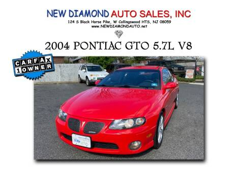 2004 Pontiac GTO for sale at New Diamond Auto Sales, INC in West Collingswood NJ